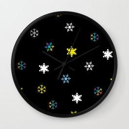 Snowflakes_C Wall Clock