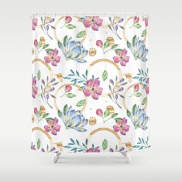 Coffee On The Table Cloth Shower Curtain