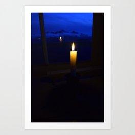 Candlelit Blues - Park Butte, Washington State Art Print