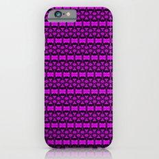 Dividers 02 in Purple over Black iPhone 6s Slim Case