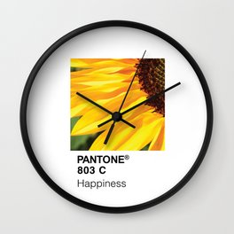 Color Swatch - Happiness Wall Clock