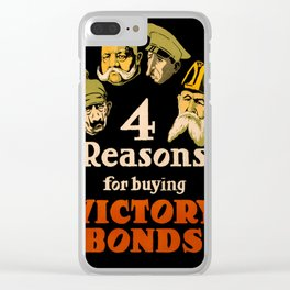 Vintage poster - Victory Bonds Clear iPhone Case