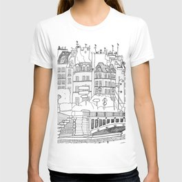 Paris Near Cathedral Notre-Dame T-shirt