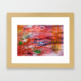 meanwhile, in the stomach Framed Art Print