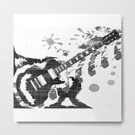 Splatter Guitar Metal Print