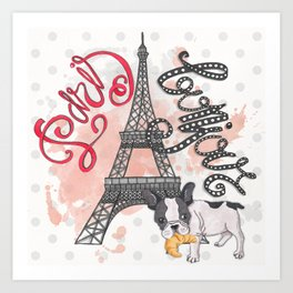 Paris Bonjour Art Print