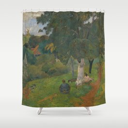 "Paul Gauguin - Coming and going, Martinique ""Allés et Venues, Martinique"" (1887) Shower Curtain"