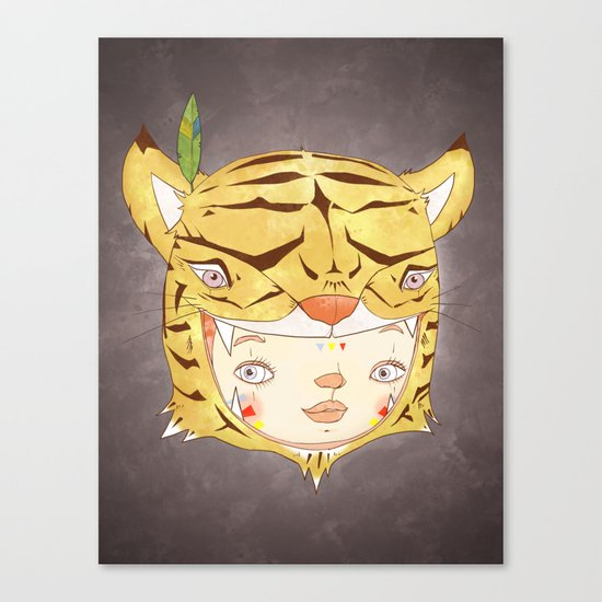 DRUNKEN TIGAAAAR Canvas Print