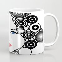 lady Mugs featuring Lady  by Kenneth