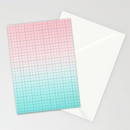 Millennial Pink and Light Blue Geometry Stationery Cards