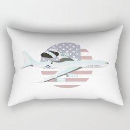 E-3 Sentry Early Warning Aircraft Rectangular Pillow