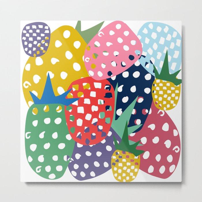 pineapple mix Metal Print