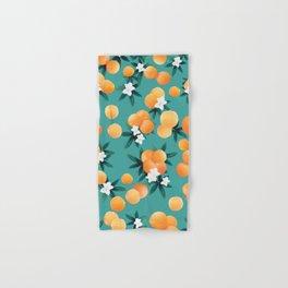 Orange Twist Flower Vibes #8 #tropical #fruit #decor #art #society6 Hand & Bath Towel