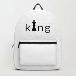 Chess King Logo Text Backpack