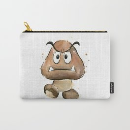 Goomba Watercolor Painting Mario Gamer Videogame Art Carry-All Pouch