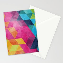 Fragmented folds Stationery Cards