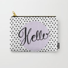 Hello Dots - Hand Lettering - Lavender Purple Carry-All Pouch