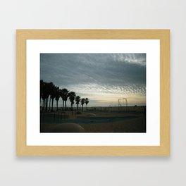 SANTA MONICA SUNSET Framed Art Print