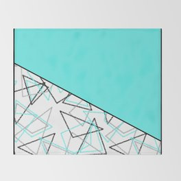 Abstract turquoise combo pattern . Throw Blanket