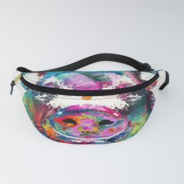 Colorful Pig Art - Squeal Appeal - By Sharon Cummings Fanny Pack