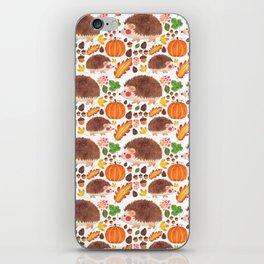 Autumn Hedgehog iPhone Skin
