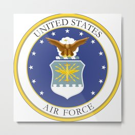 United States Air Force Coat of Arms Metal Print