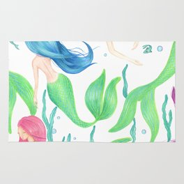 Mermaid Girl Gang Rug