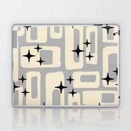 Retro Mid Century Modern Abstract Pattern 576 Gray Black Laptop & iPad Skin