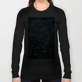 Van Gogh Almond Blossoms : Dark Teal Langarmshirt