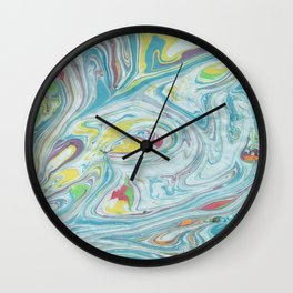 Colorful Marble Wall Clock