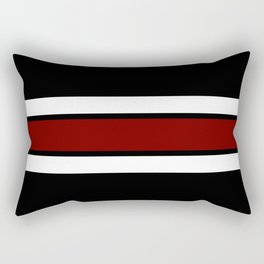 Team Colors 2...Maroon/white Rectangular Pillow