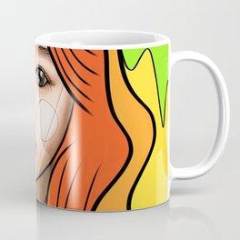 Orange and yellow portrait of a girl Coffee Mug
