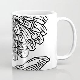 Zinnias | Zinnia art | Zinnia flowers | Black and white Zinnias Coffee Mug
