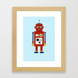 Robot Illustration Framed Art Print