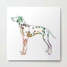 Watercolor dalmatian Metal Print