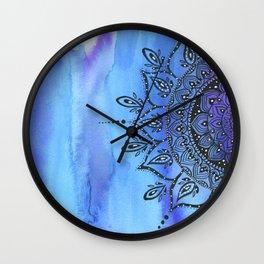 Blue MANDALA Wall Clock