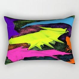 paint and glitter Rectangular Pillow