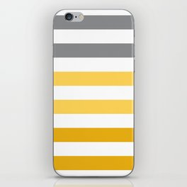 Stripes Gradient - Yellow iPhone Skin