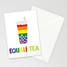 Equali-Tea Boba Bubble Tea LGBT Rainbow Pride Stationery Cards
