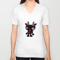 minnie V-neck T-shirts featuring Minnie by Karen Strempel