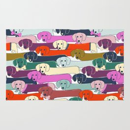 colored doggie pattern Rug