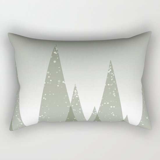 Green Abstract Forest Rectangular Pillow