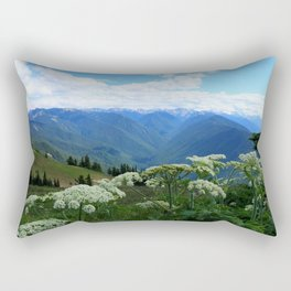 Olympic Mountains from Hurrican Ridge Rectangular Pillow