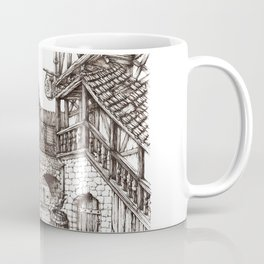 Medieval town ink Coffee Mug