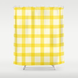 Yellow Lines Pattern Shower Curtain