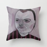 girly Throw Pillows featuring Girly by Embla Øverbye