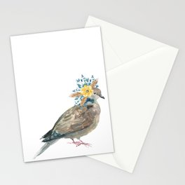 Boho Chic wild bird With Flower Crown Stationery Cards