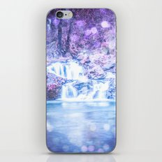 Waterfall - Nature Water Magical Blue Waterfall iPhone & iPod Skin