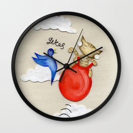 Bouncy Kitteh! Wall Clock
