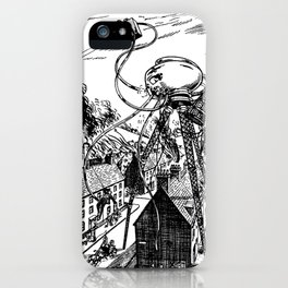 War of the Worlds H.G. Wells Illustration iPhone Case